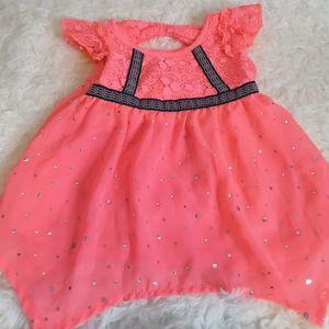 3/$15 Little Lass pink dress lace size 18 mos